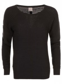 Černý svetr s knoflíky na zádech VERO MODA Forever