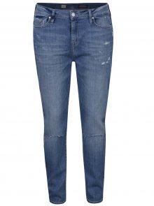 Modré džíny s vysokým pasem a potrhaným efektem Tommy Hilfiger
