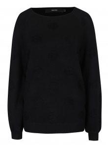 Černý svetr s puntíky VERO MODA Baldwin