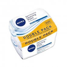 Nivea Osvěžující pleťové ubrousky pro normální a smíšenou pleť 3v1 Duopack (Cleansing Wipes) 2x25 ks