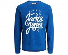 Jack&Jones Pánská mikina Jorjenson Sweat Crew Neck Nautical Blue S