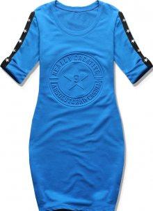 Kobaltově modré šaty s hvězdami