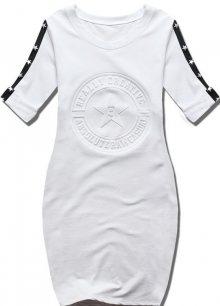 Bílé šaty s hvězdami