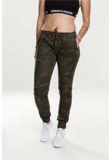 Urban Classics Ladies Camo Jogging Pants olive camo - M