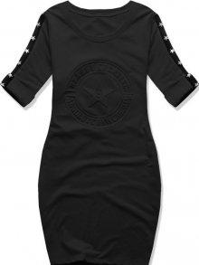 Černé šaty s hvězdami