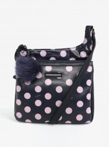 Růžovo-modrá puntíkovaná crossbody kabelka Liberty by Gionni Carmen