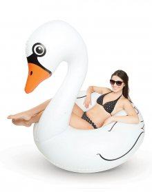 Big Mouth Pool Float White Swan 1.2m BMPFWS