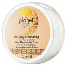 Avon Vyživující krém na ruce, nohy a lokty s bambuckým máslem Planet Spa (Hand, Elbow and Foot Cream Blissfully Nourishing with African Shea Butter) 75 ml