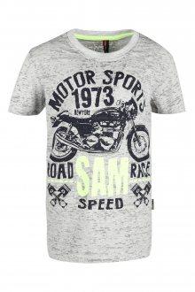 Sam 73 Chlapecké triko s motorkou Sam 73 šedá světlá 116