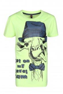 Sam 73 Chlapecké triko s žirafou Sam 73 žlutá neon 116