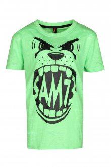 Sam 73 Chlapecké triko Sam 73 zelená neon melír 128