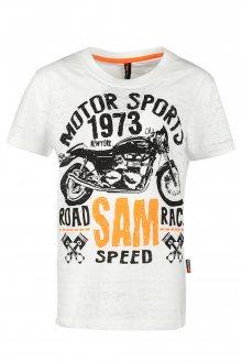Sam 73 Chlapecké triko s motorkou Sam 73 bílá 116