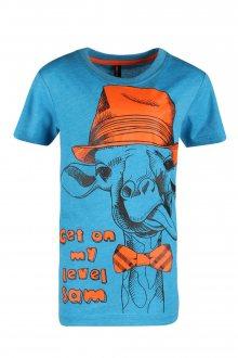 Sam 73 Chlapecké triko s žirafou Sam 73 modrá jasná 116