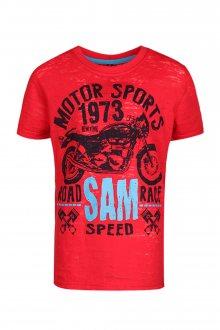 Sam 73 Chlapecké triko s motorkou Sam 73 červená 116