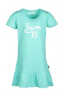 Sam 73 Dívčí šaty s puntíky Sam 73 zelená 92-98