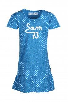 Sam 73 Dívčí šaty s puntíky Sam 73 aqua 116-122