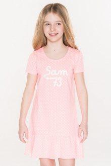 Sam 73 Dívčí šaty s puntíky Sam 73 růžová neon 92-98