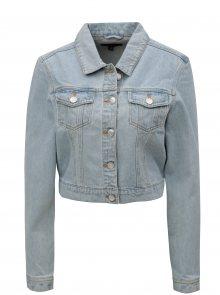 Světle modrá džínová bunda se šněrováním MISSGUIDED