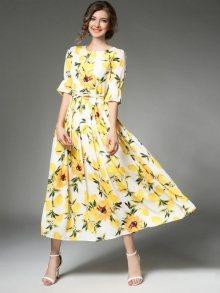 Kaimilan Dámské šaty QB932 Yellow