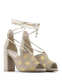 Made in Italia Dámské boty na podpatku SIMONA_TAUPE\n\n