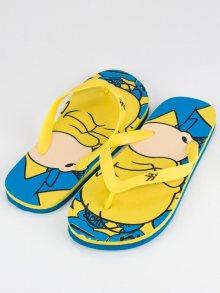 Pánské žluto-modré žabky se vzorem