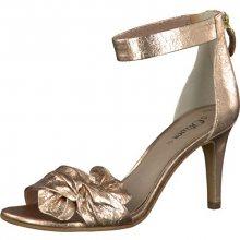 s.Oliver Elegantní dámské páskové boty Textile Rose Metallic 5-5-28350-38-519 38