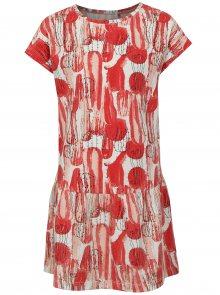 Bílo-červené šaty s gumou v pase name it Julie