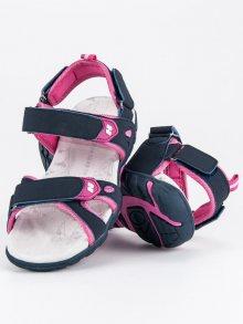 Pohodlné modré dětské sandály na suchý zip