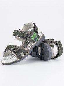 HASBY Dětské sandálky S2366DK.G/L.G