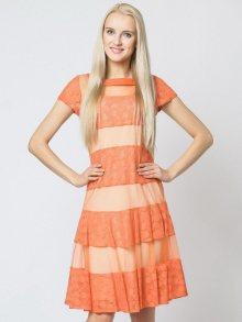 Margo Collecttion Dámské šaty DRESS 317B ORANGE