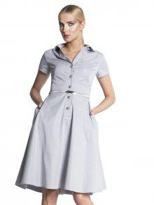 MONA by Monika Natora Dámské šaty DRESS 232 GREY