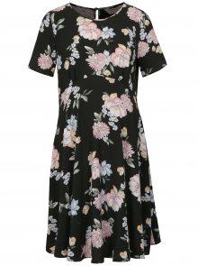 Černé květované těhotenské šaty Dorothy Perkins Maternity