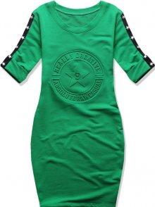 Zelené šaty s hvězdami