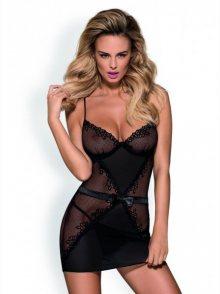 Obsessive Lustella chemise XXL černá