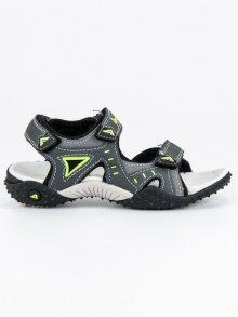 Lehké šedé chlapecké sandály na suchý zip