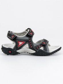 Lehké černé chlapecké sandály na suchý zip