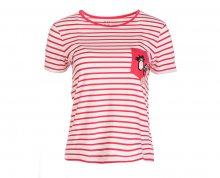 Roxy Dámské triko Bahamas Cottage B Rouge Red Basic Bico Stripes ERJZT04181-MLJ3 M