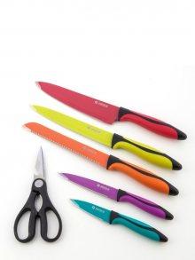 InnovaGoods Sada 5 keramických nožů s kuchyňskými nůžkami V0100150