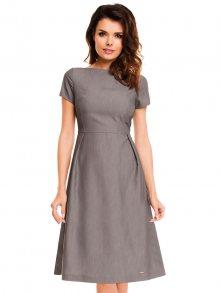 Awama Dámské šaty A130_grey