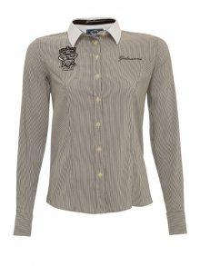 Galvanni Dámská košile ALISHIAS Black Multi Striped