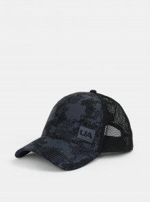 Šedo-černá vzorovaná pánská kšiltovka Under Armour