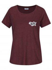 Vínové tričko s potiskem Jacqueline de Yong Marble