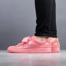 Boty - Puma | RŮŽOVÝ | 36 - Dámské boty sneakers Puma Suede Heart SNK Jr 364918 05