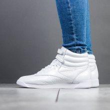 Boty - Reebok Classic | BÍLÝ | 36 - Dámské boty sneakers Reebok Freestyle Hi Iridescent BS9668