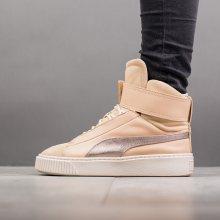 Boty - Puma | HNĚDÝ | 36 - Dámské boty sneakers Puma Basket Platform Mid Up 364952 01