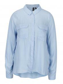 Světle modrá košile s náprsními kapsami VERO MODA Koko