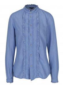 Světle modrá dámská džínová košile Pepe Jeans Frilly