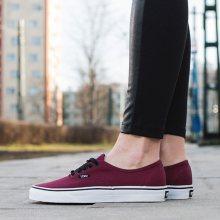 Boty - Vans | BORDÓ, CZERWONY | 36 - Dámské boty sneakers Vans Authentic QER5U8