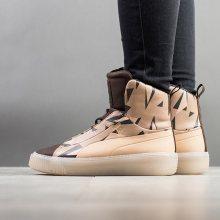 Boty - Puma | HNĚDÝ | 36 - Dámské boty sneakers Puma Piat Fsn Cheetah Naturel 364460 01