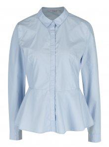 Světle modrá košile s volánem ONLY Poppi